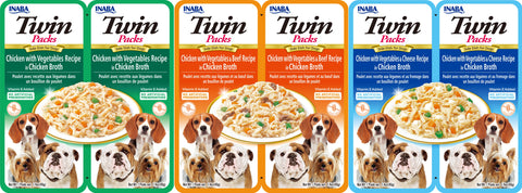 Dog Twin Packs Variety 3 Pack (Contains 1 pack of each flavor)