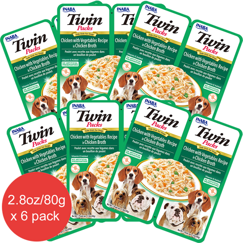 Dog Twin Packs Chicken with Vegetables Recipe in Chicken Broth (Contains 6 packs)