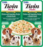 Dog Twin Packs Chicken with Vegetables Recipe in Chicken Broth