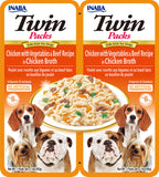 Dog Twin Packs Chicken with Vegetables & Beef Recipe in Chicken Broth (Single Pack Only)