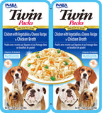 Dog Twin Packs Chicken with Vegetables & Cheese Recipe in Chicken Broth (Contains 6 packs)