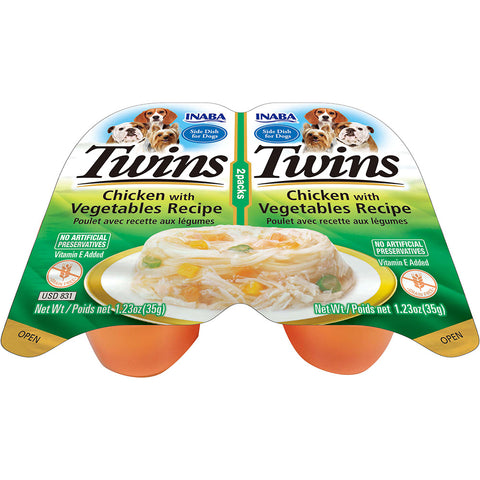 Dog Twin Cups Chicken with Vegetables Recipe (Single Pack Only)