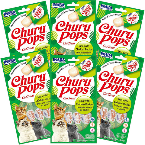 Churu Pops Tuna with Chicken 6 pack/4 tubes