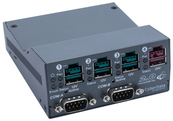 010845 PoweredUSB 4-Port Hub with RS232