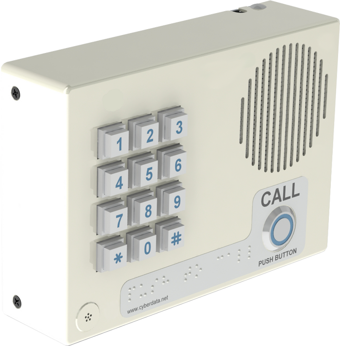 011307 InformaCast Enabled Indoor Intercom with Keypad