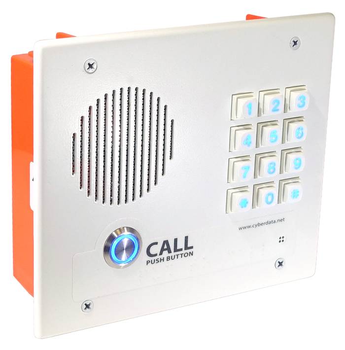 011308 InformaCast® Enabled Indoor Intercom with Keypad - Flush Mount