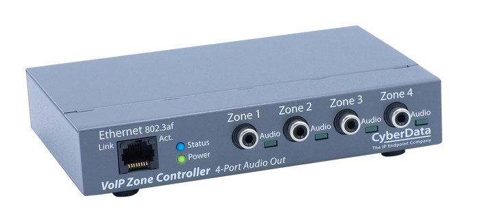 011171 SIP Paging Zone Controller with 4-Port Audio Out