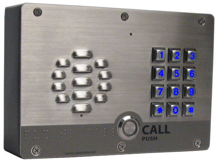 011310  InformaCast® Enabled Outdoor Intercom with Keypad