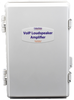 sip loudspeaker amplifier ac powered cyberdata corporation