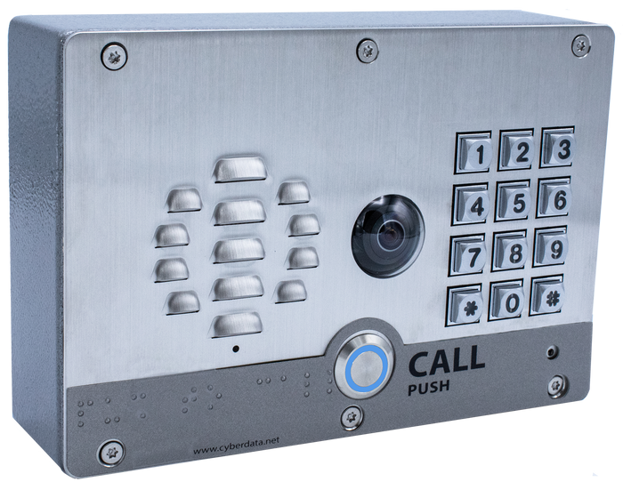011414 SIP h.264 Video Outdoor Intercom with Keypad