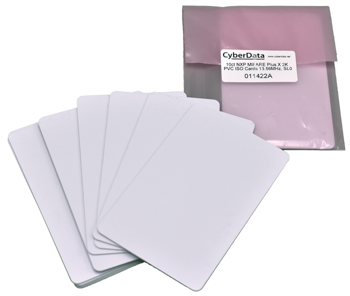 011422 RFID Cards - Packet of 10 (Use with 011425, 011426, 011477, 011478)