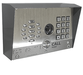 011414_OUTDOOR_KEYPAD_VIDEO_INTERCOM+SHROUD_GREY