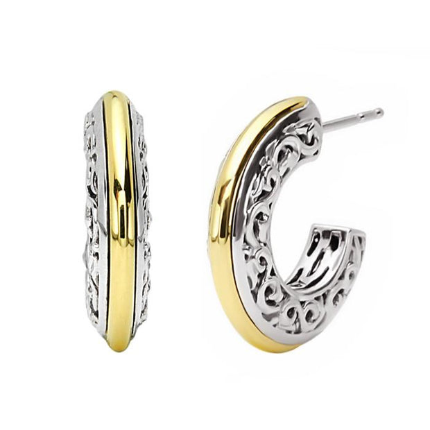 Ivy Two Tone Hoop Earrings