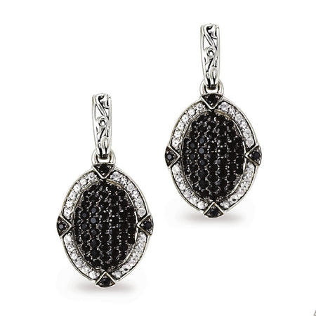 Black Sapphire Pave Earrings