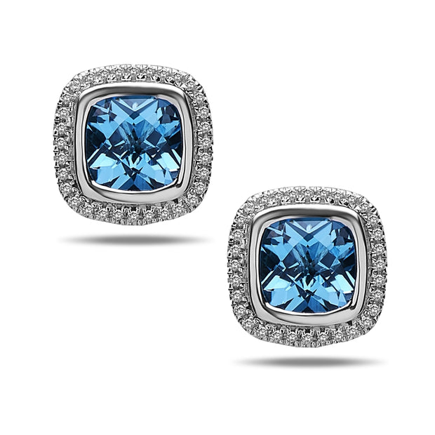 Ellah Blue Topaz Earrings