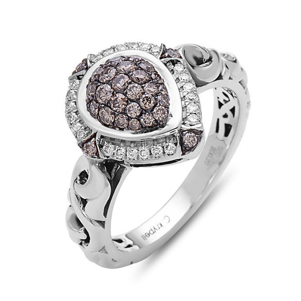 Brown Diamond Pave Ring
