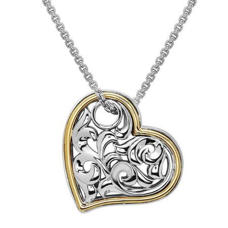 Ivy Two Tone Heart Necklace