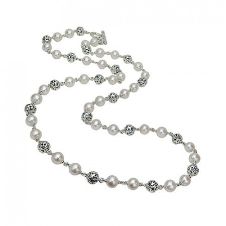 Ivy Bead Pearl Necklace 36
