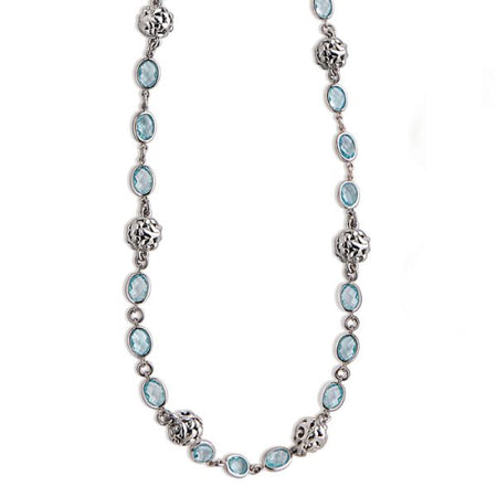 Dylani Blue Topaz Necklace