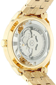 Seiko Recraft Automatic Black Dial Yellow Gold-tone Men's Watch
