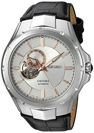 Seiko Coutura Automatic 24-Jewel Watch with an Open Heart Dial