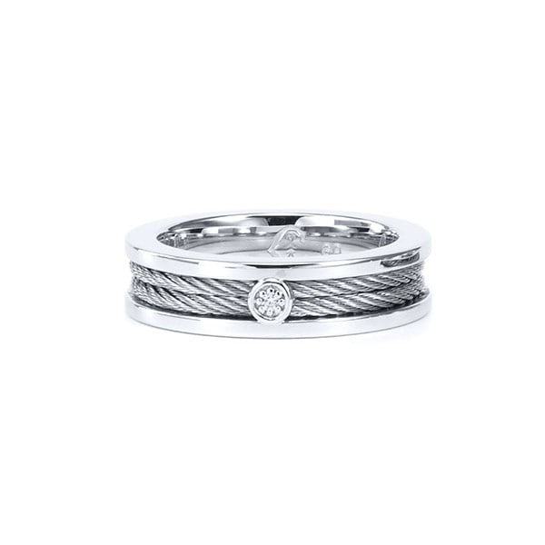 buy cable moissanite contour ring ninaellejewels a by custom rings cushion solitair solitaire cut engagement made hand