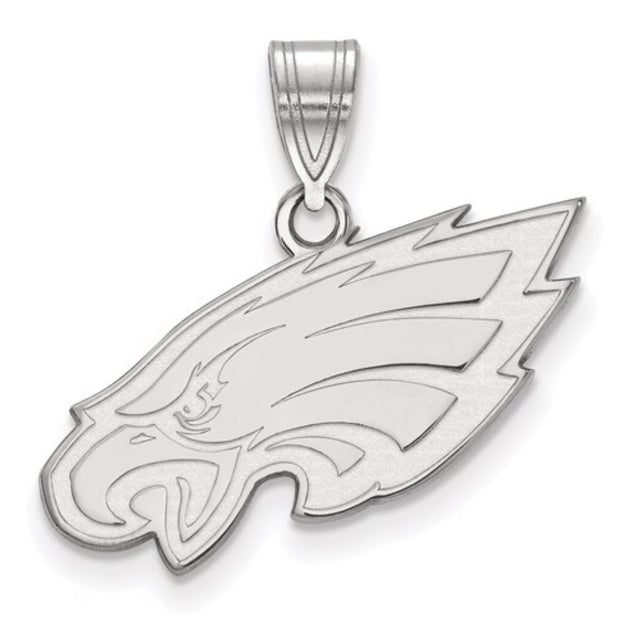 White Gold Philadelphia Eagles Pendant