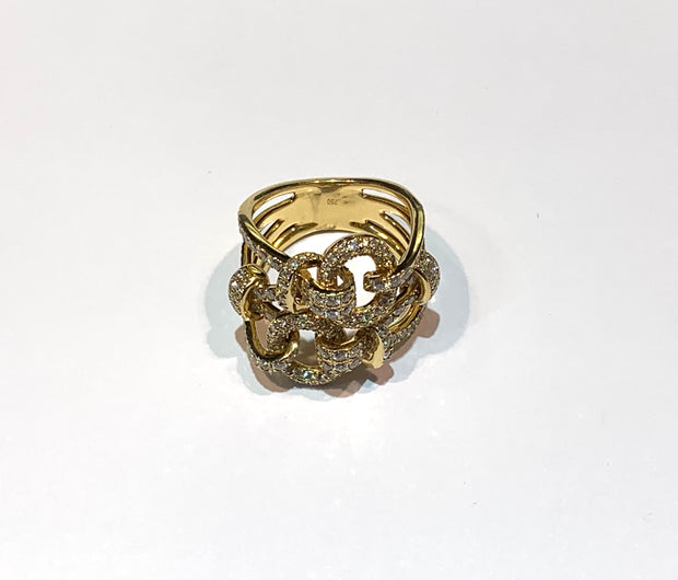 18k Buckle Knot Ring