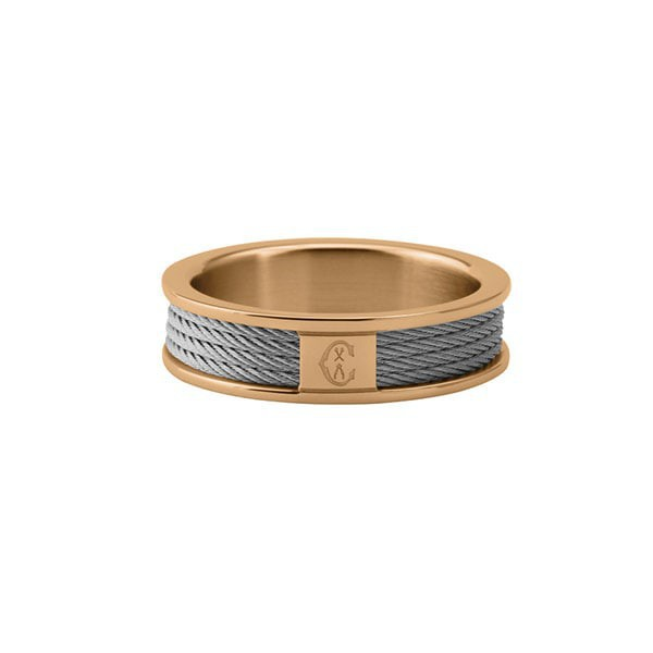 Celtic StainlessSteel & Rose Gold PVD Forever Ring