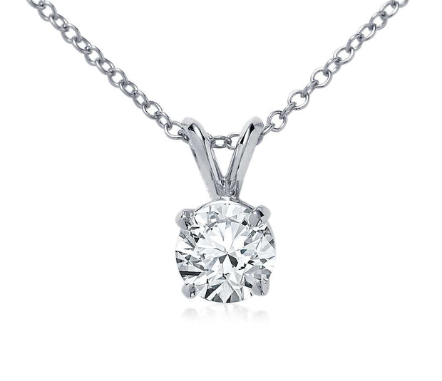.45ct Round Diamond Solitaire Pendant Necklace