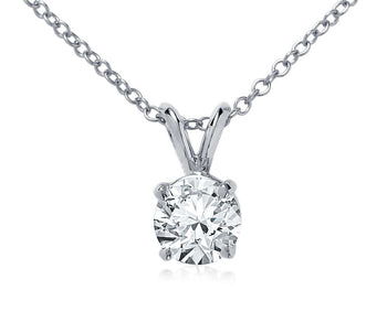 .15ctw Round Diamond Solitaire Pendant Necklace