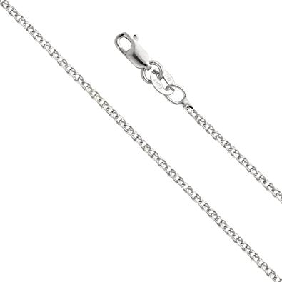 White Gold Solid Cable Chain