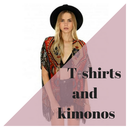 T-shirts and kimonos