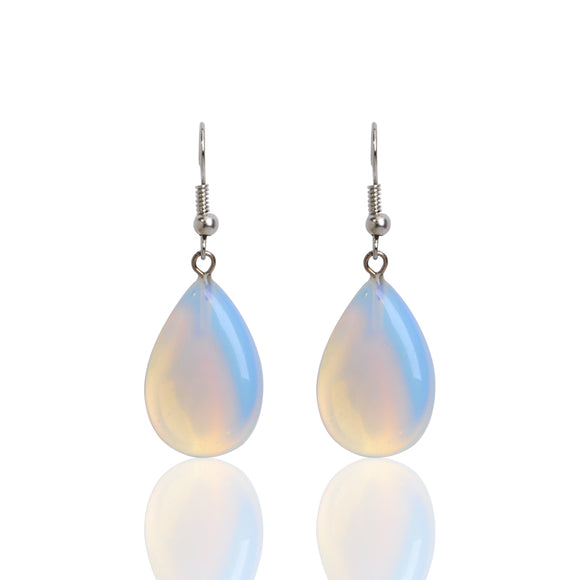 Earrings Opal Natural Stone (moon stone) PAY SHIPPING ONLY