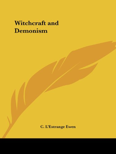 Witchcraft and Demonism