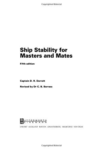 Ship Stability for Masters and Mates, Fifth Edition