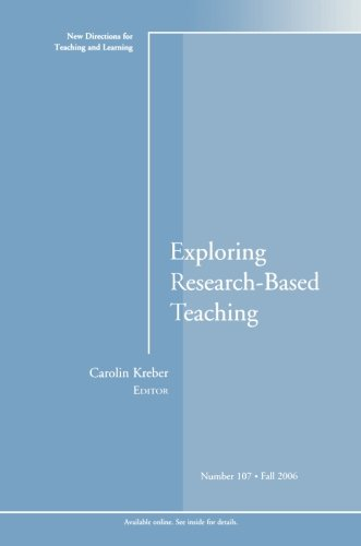 Exploring Research-Based Teaching: New Directions for Teaching and Learning, Number 107