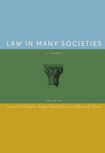 Law in Many Societies: A Reader