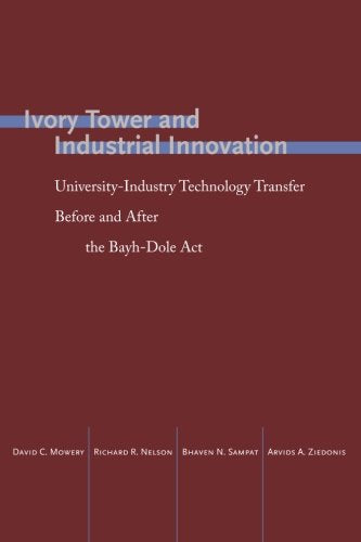 Ivory Tower and Industrial Innovation: University-Industry Technology Transfer Before and After the Bayh-Dole Act (Innovation and Technology in the World Economy)