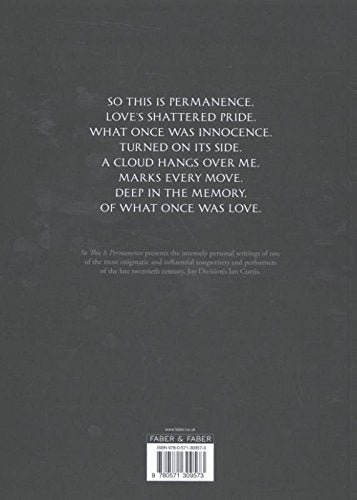 So This is Permanence: Joy Division Lyrics and Notebooks