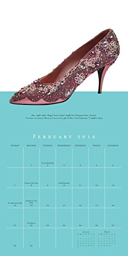 Shoes 2016 Mini Wall Calendar