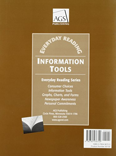 EVERYDAY READING INFORMATION TOOLS TEACHERS GUIDE (Ags Everyday Reading)