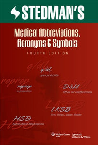 Stedman's Medical Abbreviations, Acronyms and Symbols, Fourth Edition on CD-ROM