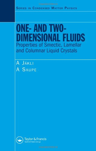 One- and Two-Dimensional Fluids: Properties of Smectic, Lamellar and Columnar Liquid Crystals (Condensed Matter Physics)