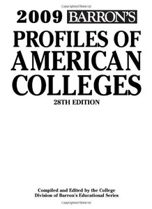 2009 Barron's Profiles of American Colleges 28 Edition with CD-ROM