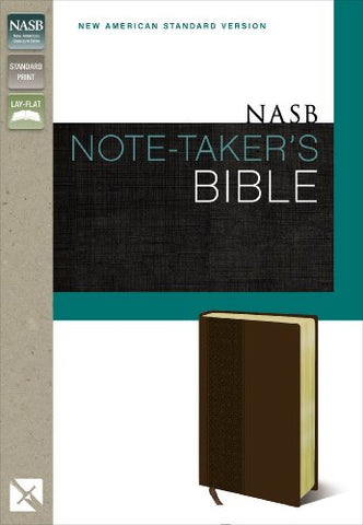 Nasb, Note-Taker'S Bible, Leathersoft, Brown, Red Letter Edition