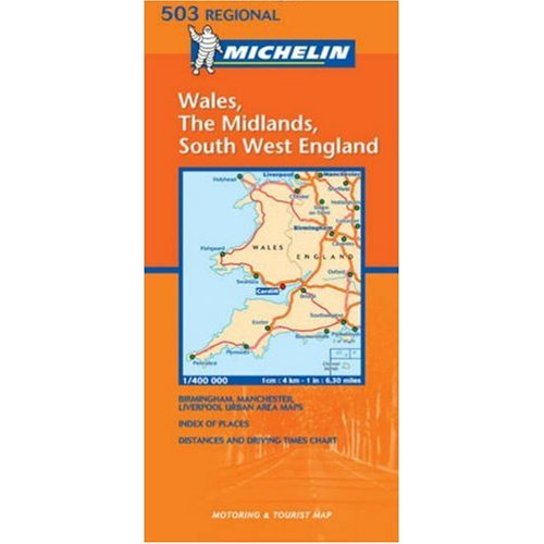 Michelin Map No. 503: Wales-West Country-Midlands
