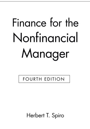 Finance For The Nonfinancial Manager