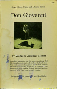 Don Giovanni (Dover Opera Guide and Libretto Series)