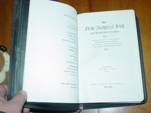 The New Analytical Bible and Dictionary of the Bible